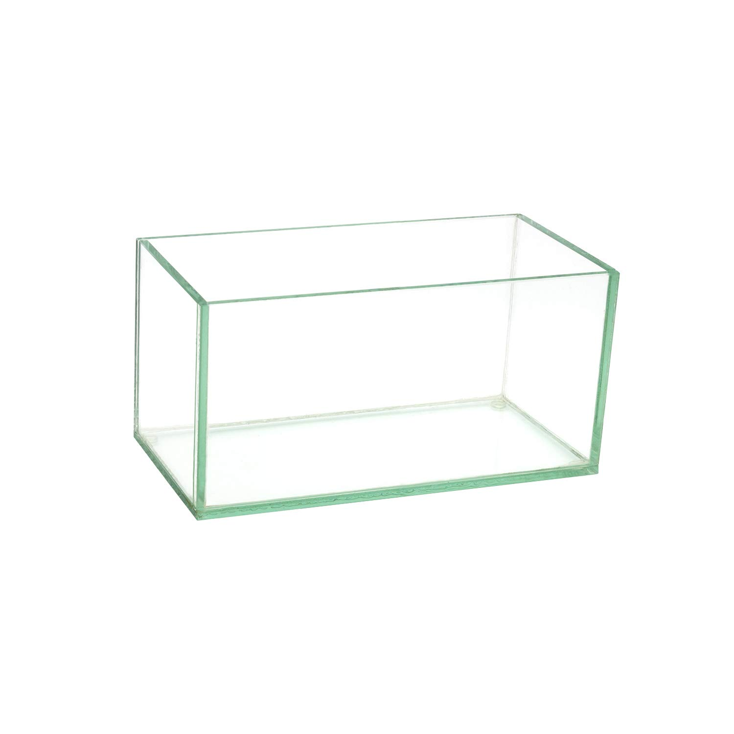 """Royal Imports Flower Glass Vase Decorative Centerpiece for Home or Wedding Oblong Rectangle Shape (8"""", Clear)"""