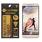 iKare Fiber Tempered Glass Screen Protector for Letv Le 1S (REUSABLE, ULTRA CLEAR, REAL SHOCK PROOF, UNBREAKABLE)