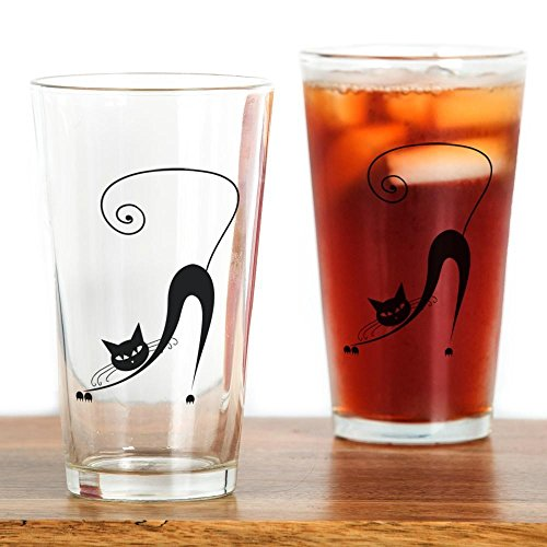 CafePress Black Pint Glass Drinking