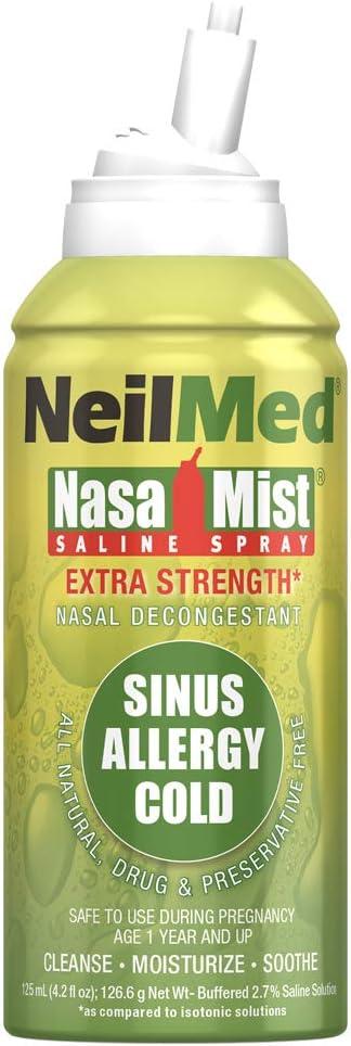 NeilMed NasaMist Hypertonic Extra Strength Saline Spray, 125mL