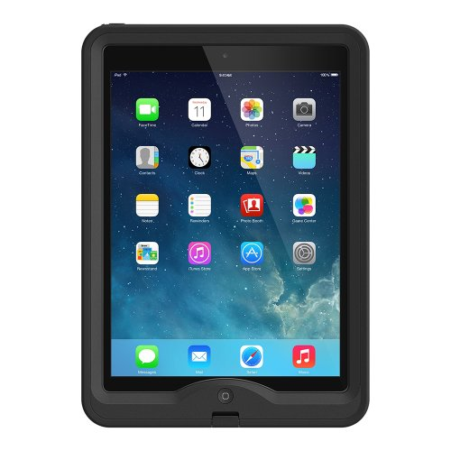 LifeProof NÜÜD iPad Air (1st Gen ONLY) Waterproof Case - Retail Packaging - Black (Best Ipad Air 1 Case)