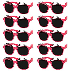 musykrafties Party Costume Sunglasses Fun Shade Eyelash Glasses 10-Bundle