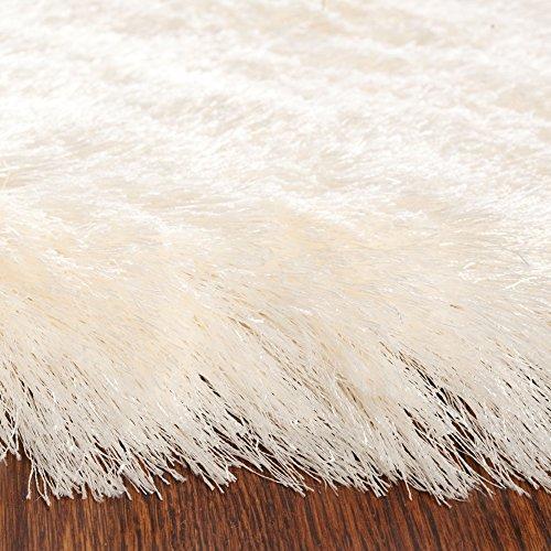 Safavieh Paris Shag Collection SG511-1212 Ivory Polyester Area Rug (5' x 7')