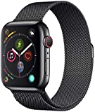 Apple Watch Series 4-40mm Space Black Stainless Steel Case with Black Milanese Loop, GPS + Cellular, watchOS 5 - MTVM2AE/A