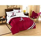 NCAA Alabama Crimson Tide Full Applique Comforter and Sham Set, 76 x 86-Inch