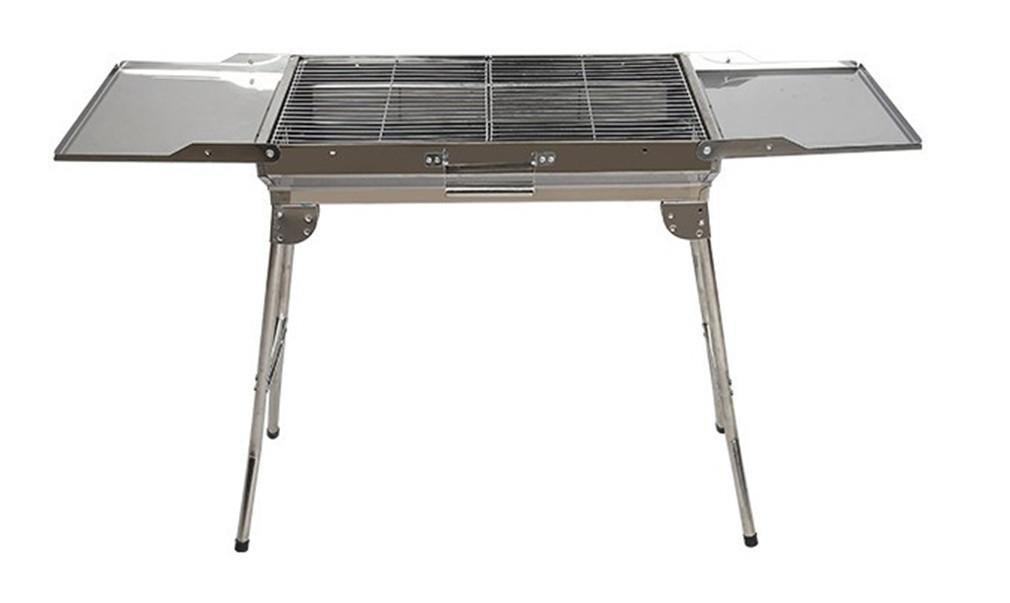 BBQER-A Edelstahl Kohle Barbecue Grill, Portable Folding BBQ Ofen mit Iron Mesh für Outdoor Camping, Party, drei Größen