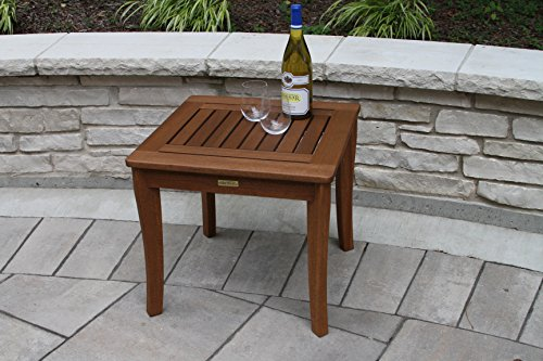 Amazon.com : Outdoor Interiors 19470 Eucalyptus End Table : Patio Side  Tables : Garden U0026 Outdoor