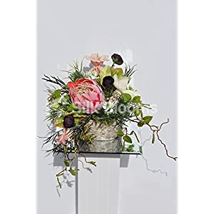 Colour Pop Rannunculus Belladonna Magnolia Protea Vase Display 73