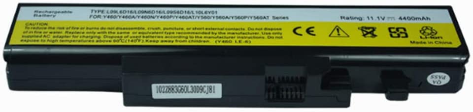 New Battery Compatible for Lenovo IdeaPad Y560P Y460C-ITH Y460P-IFI L08O6D02 121000679 Battery Replacement 6 Cell 4400 mAh