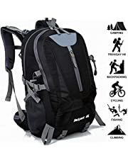 Adnyoutdoor 40L Men Waterproof Hiking Backpack Lightweight Multi-Functional Outdoor Sports Traveling Rucksack Suitable for Cycling Mountaineering Camping Fishing Daypack