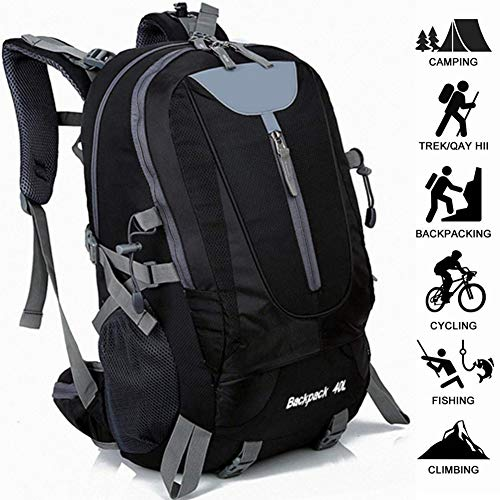Andnyoutdoor 40L Hiking Backpack Lightweight Multi-Functional Outdoor Sports Traveling Rucksack Suitable for Cycling Mountaineering Camping Fishing Men and Women Daypack