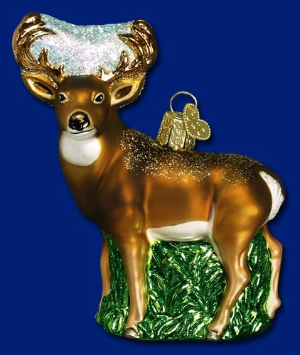 WHITETAIL DEER Animal Ornament Old World Christmas NEW
