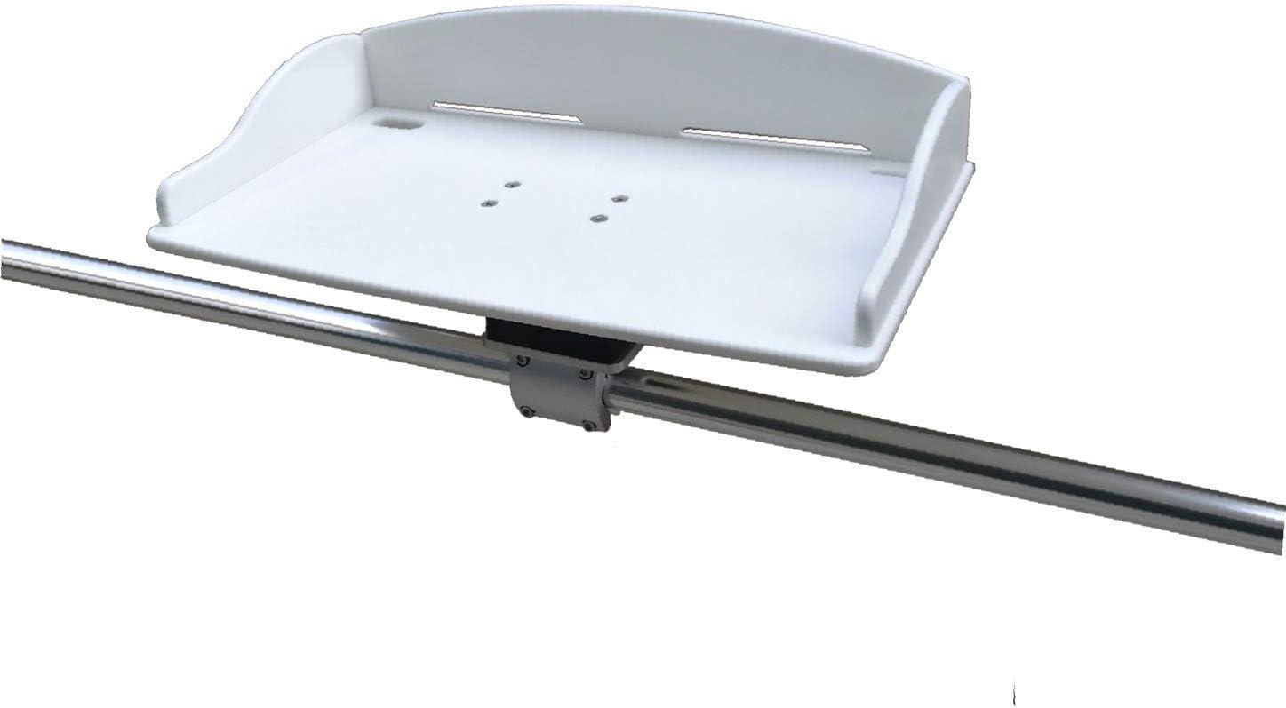MarkDown Marine Fishing White Fillet Table Bait Cutting Board Single Rail Mount