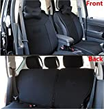 Toworld18  One Set Front + Rear Car Seat Covers Seat Cush...