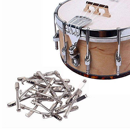 (Kalaok 24pcs Hooks and Nuts Metal Chrome Plated Parts for Banjo)