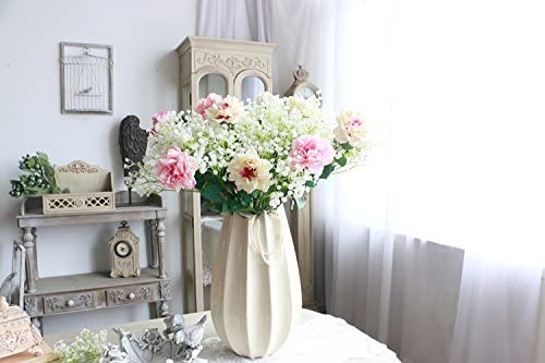 Blanc1 Fashion Lot de 10 Blanc Gypsophila artificielle Faux Belle Fleur de mariage Parti Home Decor Fleurs