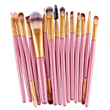 15 Pcs Makeup Brush Set Eye Shadow Eyebrow Eyeliner Eyelash Cosmetic Make Up Tool Professional Natural Beauty Palettes Eyeshadow Cute Popular Eyes Face Colorful Rainbow Hair Highlights Kit, Type-07