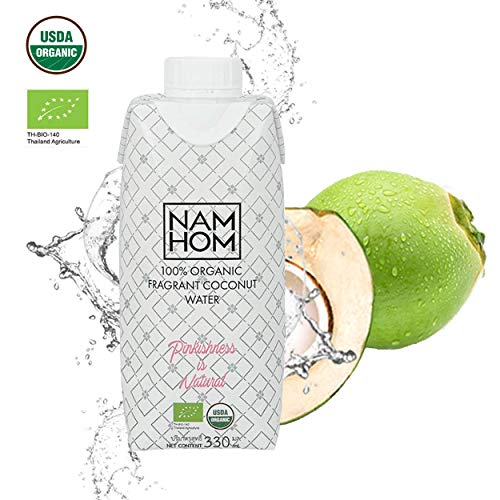 Young Coconut Water - Real Coconut Water, Premium Coconut Drink, All Natural 100% Pure, Young Thai Coconut, Naturally Sweet, No Sugar Added, Non GMO, Easy-Go-Ready-to-Drink 330mL (11.1 oz)