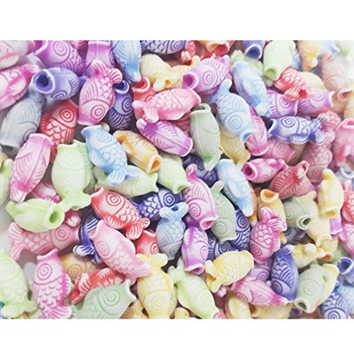 100 pcs Koi fish beads Pastel DIY Kids Craft Handcraft Home Decor