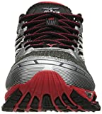 Mizuno-Mens-Wave-Prophecy-5-Running-Shoe-GunmetalHigh-Risk-Red-10-D-US