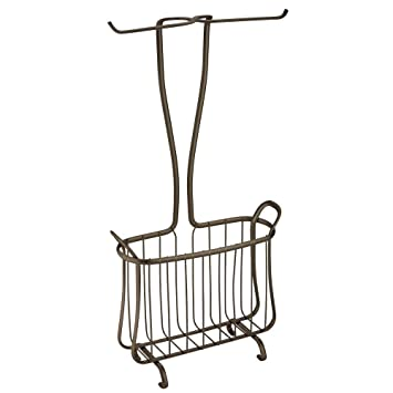 axis free standing toilet paper holder newspaper magazine rack bathroom bronze brushed nickel venetian freestanding tissue