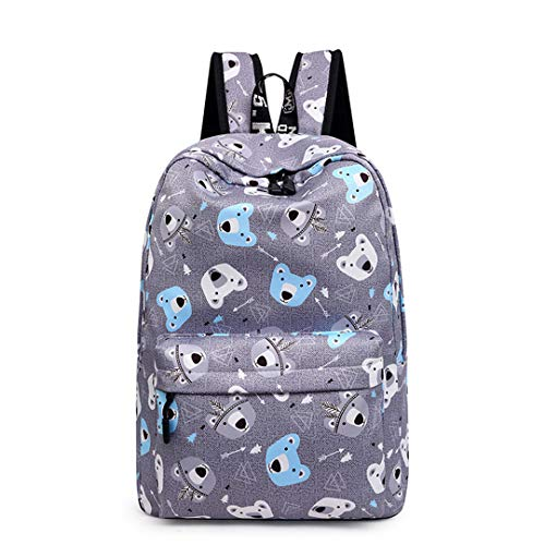 Korean Polyester Ladies Simple Contrast Color Waterproof Student Backpack by Boygirl