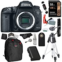 Canon EOS 7D Mark II Digital SLR Camera (Body) + Lexar 32GB SDHC + Polaroid 72