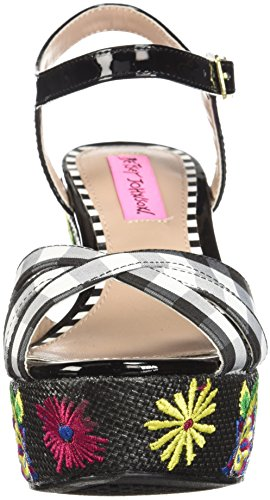 Traci Betsey Wedge Johnson Black Women's Sandal Multi Ev0Rz4q0n