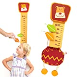 I'm Wood and Fabric Wall Growth Chart, Height Measurement, Scale, Ruler for Kids (Lion)