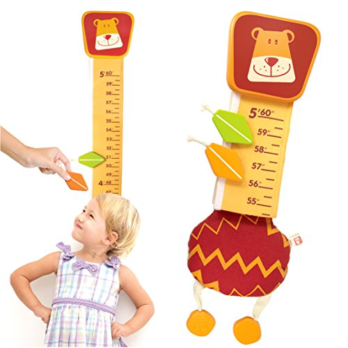 I'm Wood and Fabric Wall Growth Chart, Height Measurement, Scale, Ruler for Kids - Chart For Art Kids Growth