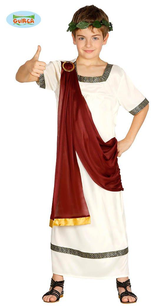 Fiestas Guirca Costume da senatore Antico Romano Bambino