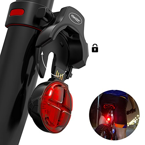 TWOOC Bike Tail Light, Wireless Charging Removable and Smart Brake Sensor LED Bicycle Tail Light