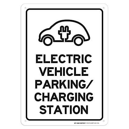 Electric Vehicle Parking And Charging Station Sign
