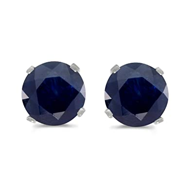 Amazon 1 Carat Total Weight Natural Round Sapphire Stud