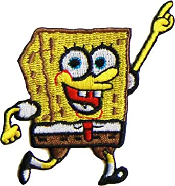 Amazon Com Spongebob Squarepants Embroidered Patch Clothing