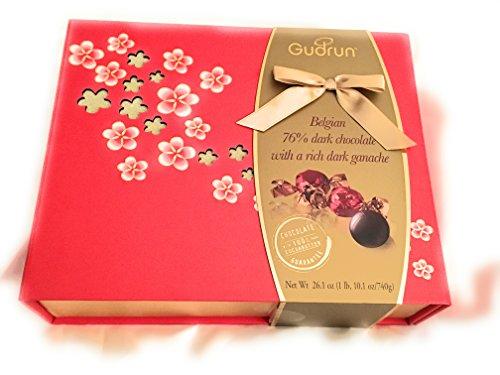 (Gudrun Belgian Dark Chocolate with rich dark Ganache 26.1 Oz. Gift Box)