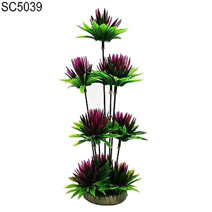 Noa54fran Decoración para Acuario, decoración de Acuario, Flores Artificiales, Planta de Agua Artificial