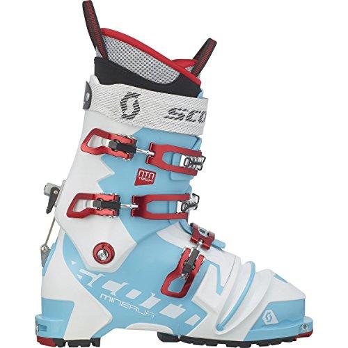 Scott Minerva NTN Telemark Boot - Women's Bermuda Blue/White, 23.5
