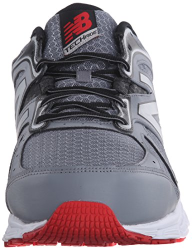 New Balance Mens M560V6 Running Shoe, Grey/Black/Red, 10 D US Grey / Black / Red