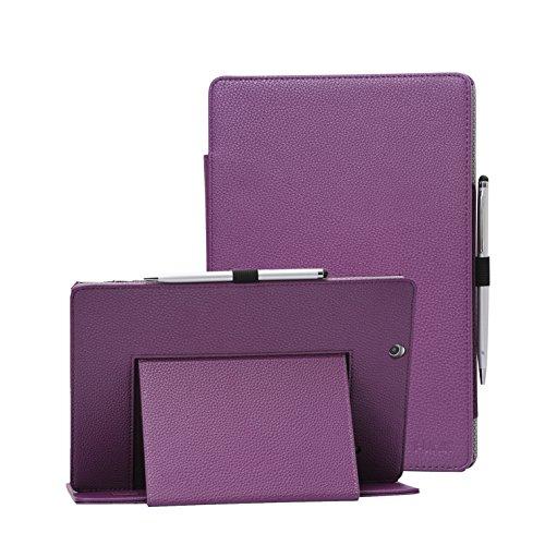 i-UniK 2016 Version Nextbook Ares 10A Compatible Model #NX16A10132S Tablet Case Cover [Bonus Stylus Pen] (Purple) (10 Nextbook Accessories)