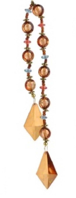 Beaded Diamond Christmas Drop Ornament