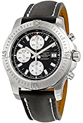 Breitling Colt Chronograph Automatic Black Dial Black Leather Mens Watch A1338811-BD83BKLD
