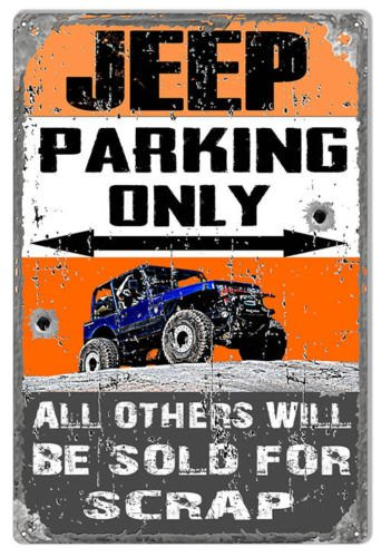 Janet Carmen Personalized Jeep Parking ONLY! Classic Aluminum Sign 18