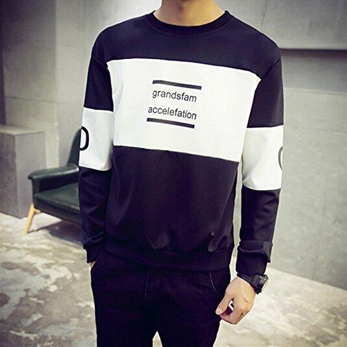 Spritech(TM) Men's Fashion Comfort Winter Space Cotton Hoodie Round Collar Pullover Sweatshirt Black XL