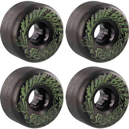 遅滞完璧なエキスSanta Cruz Skateboards Slimeballs Vomits Miniブラック/グロースケートボードホイール – 56 mm 97 a (Set of 4 )