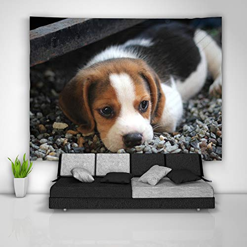 Dog Tapestry Art Wall Hanging Sofa Table Bed Cover Mural Beach Blanket Home Dorm Room Decor Gift ()