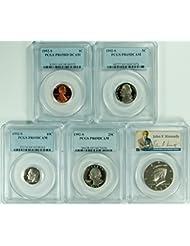 1992 S (5 set of coins) (Presdential Labels) DCAM PCGS PR-69