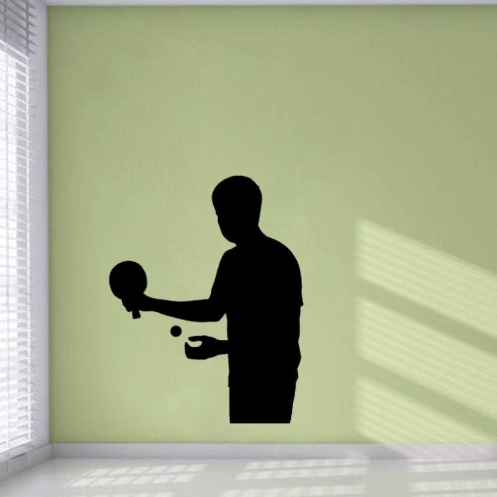 44 Cm * 56 Cm Interesante Mesa De Ping Pong Sala De Estar El Dormitorio Etiqueta De La Pared Pvc