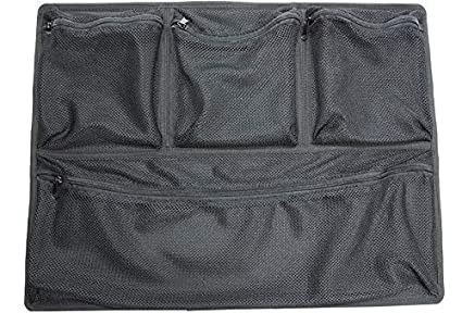 Heavy-Duty Nylon Zippers Viewable Mesh Construction SKB Cases 3i-LO2918-1 iSeries 2918 Lid Organizer Four Convenient Storage Pockets Durable Velcro Type Adhesive