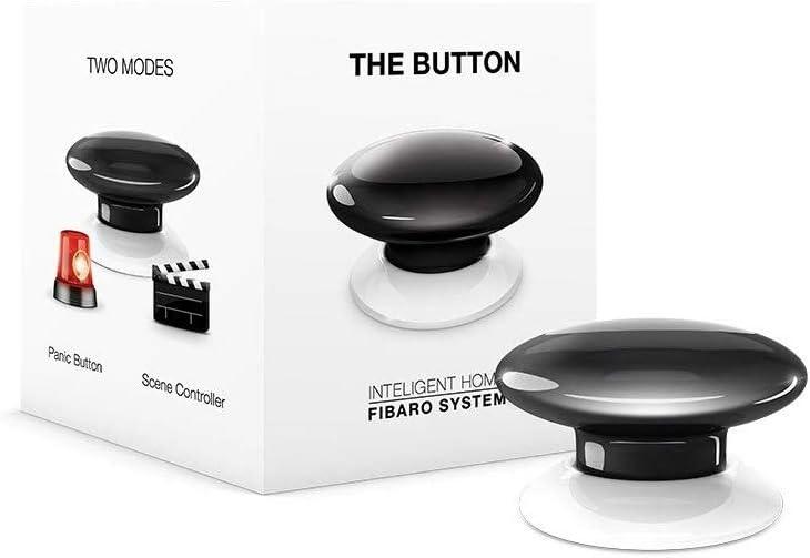 FIBARO The Button Black Z-Wave Plus Scene Controller 3.6 V On-Off Trigger